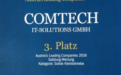 """comtech gehört zu den """"Austria's Leading companies"""""""